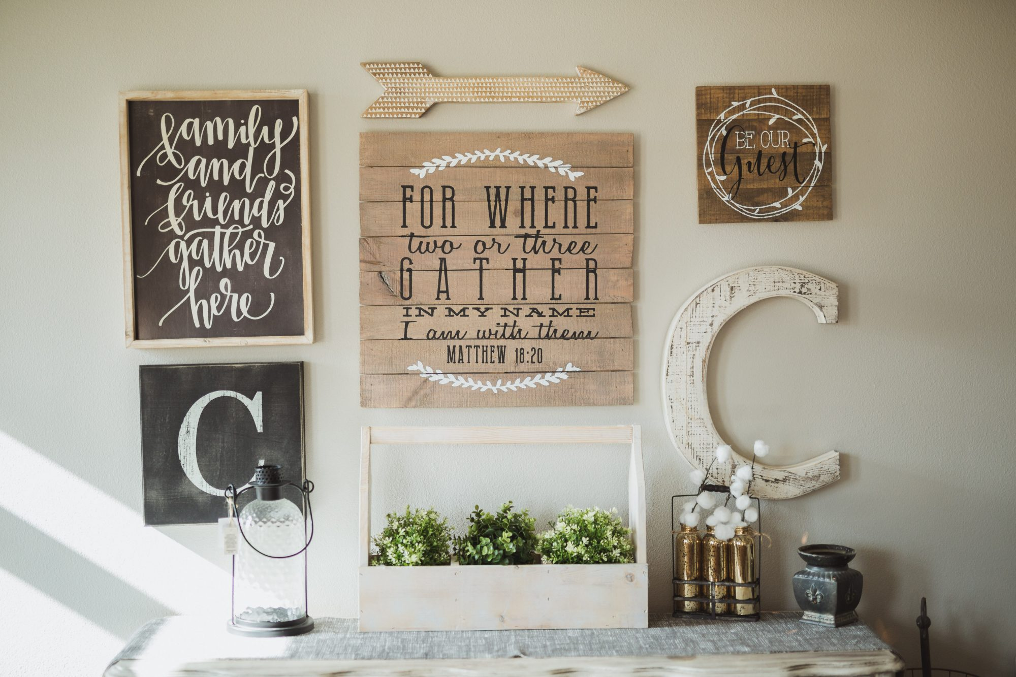 Word Art Signs in Home Decor