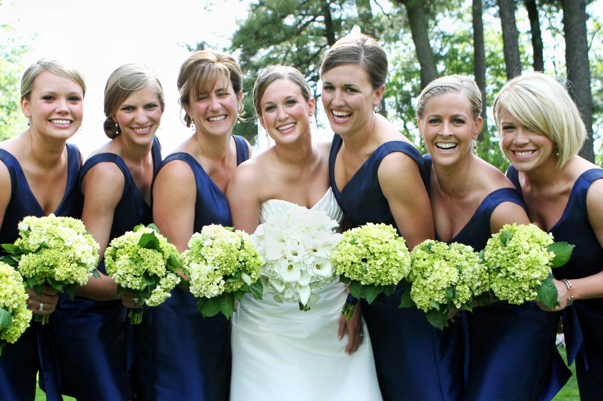 Group of Bridesmaids in Navy