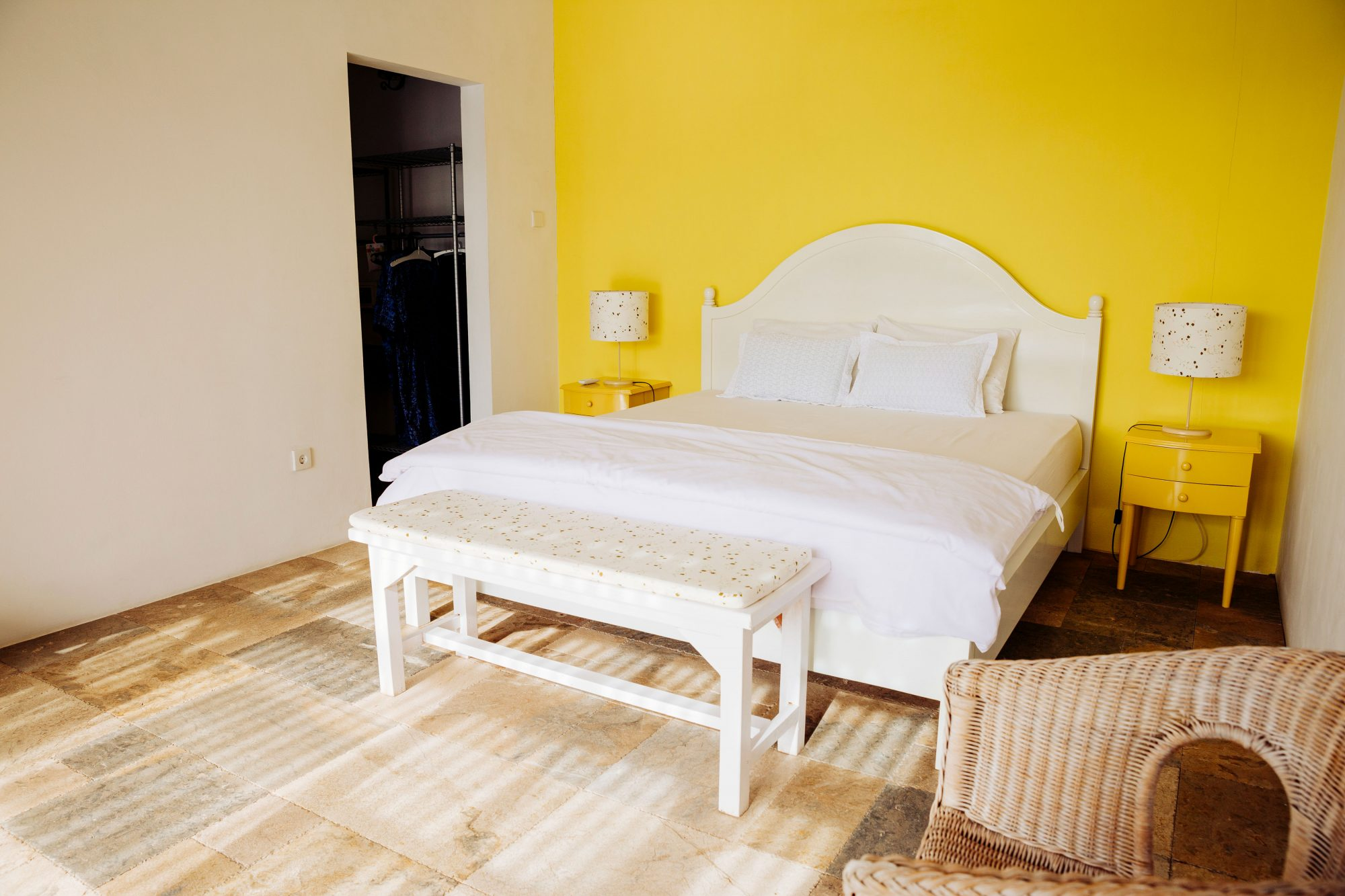 Bedroom Accent Wall in Yellow