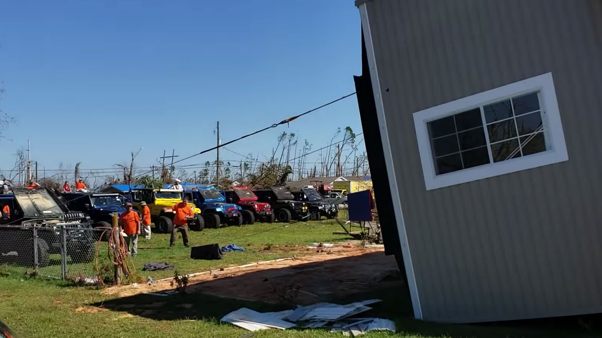 Jeeps Flip House After Hurricane Michael