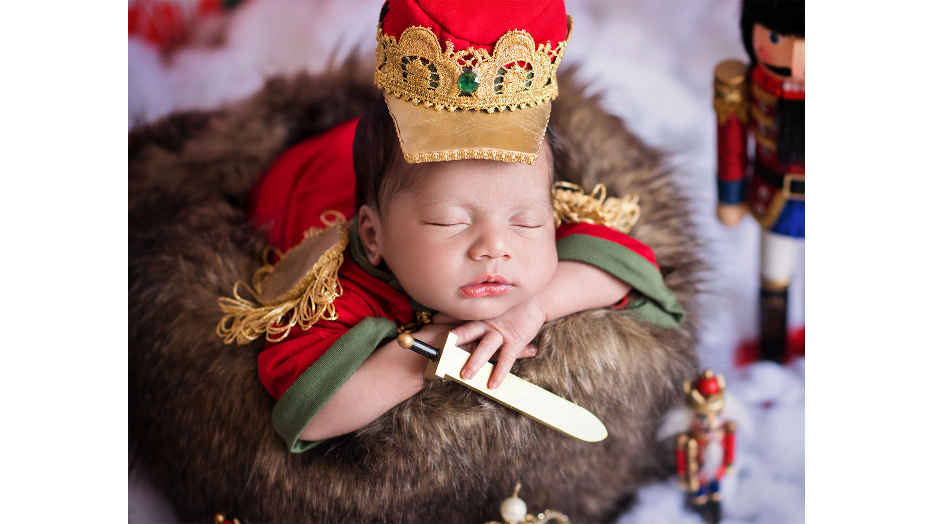 Nutcracker Baby Photoshoot Rat King