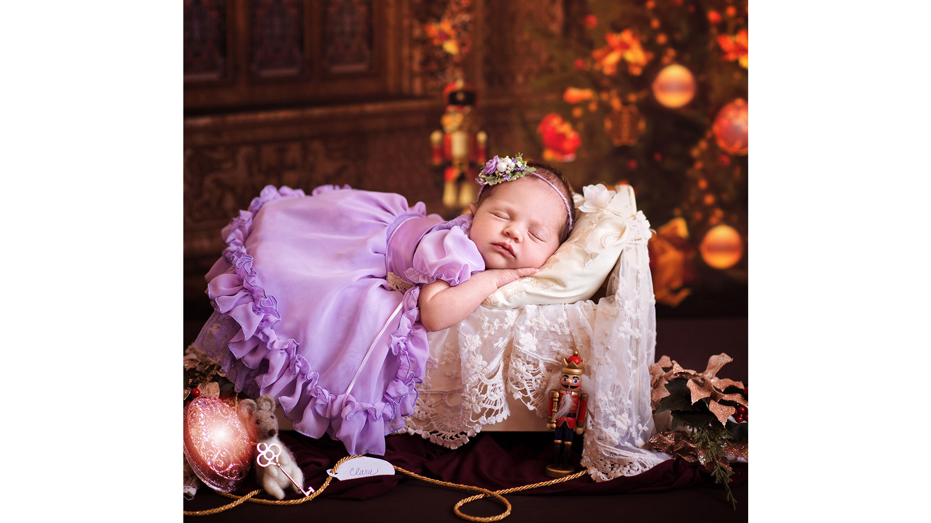 Nutcracker Baby Photoshoot Sleeping Fairy