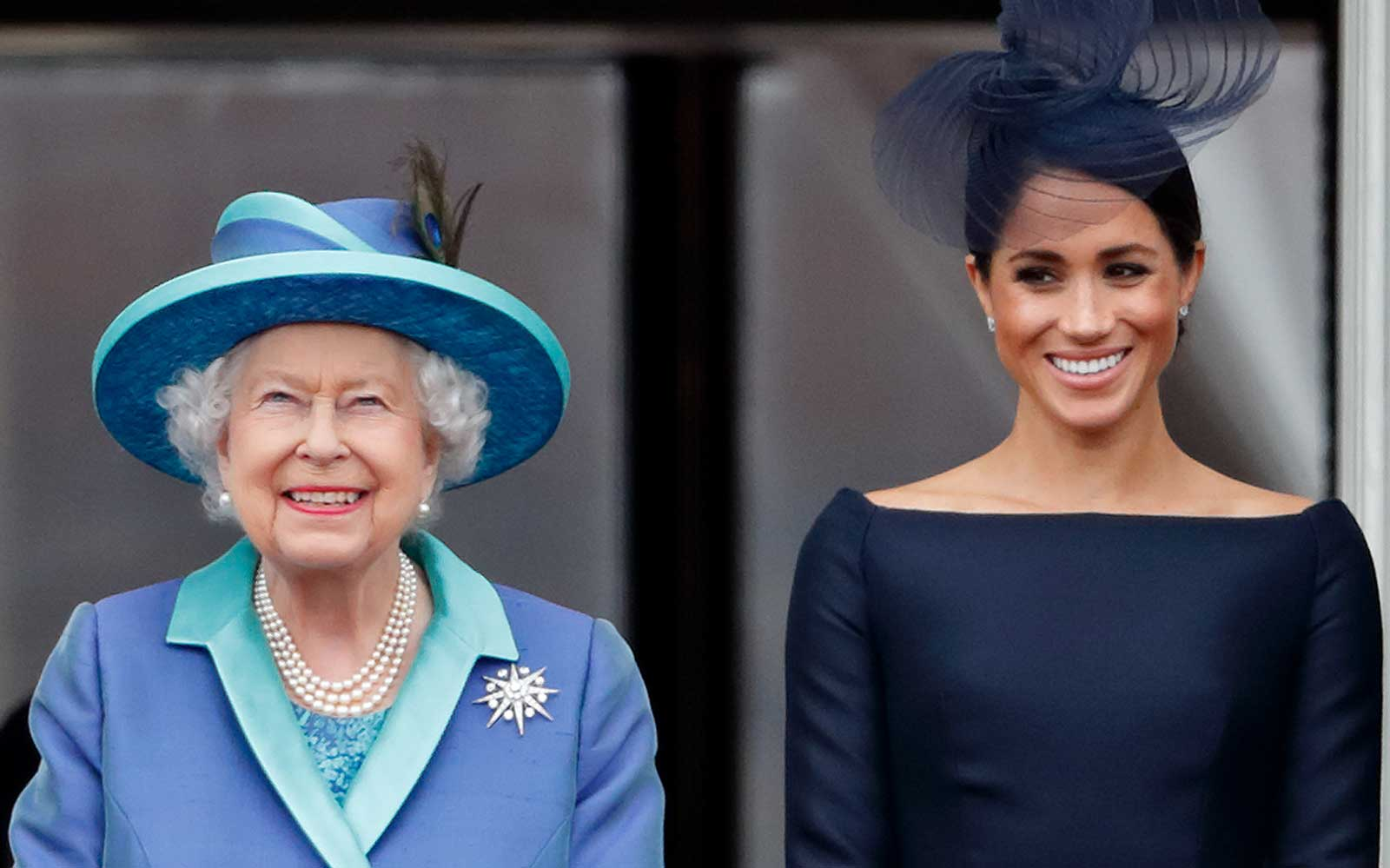 Queen Elizabeth II and Duchess Meghan of Sussex