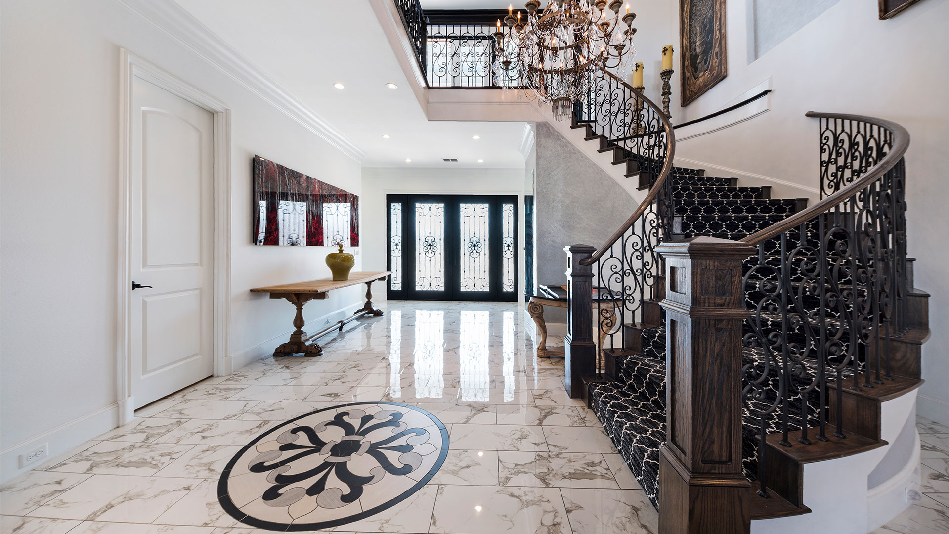 Pilot Point Texas Mansion Foyer