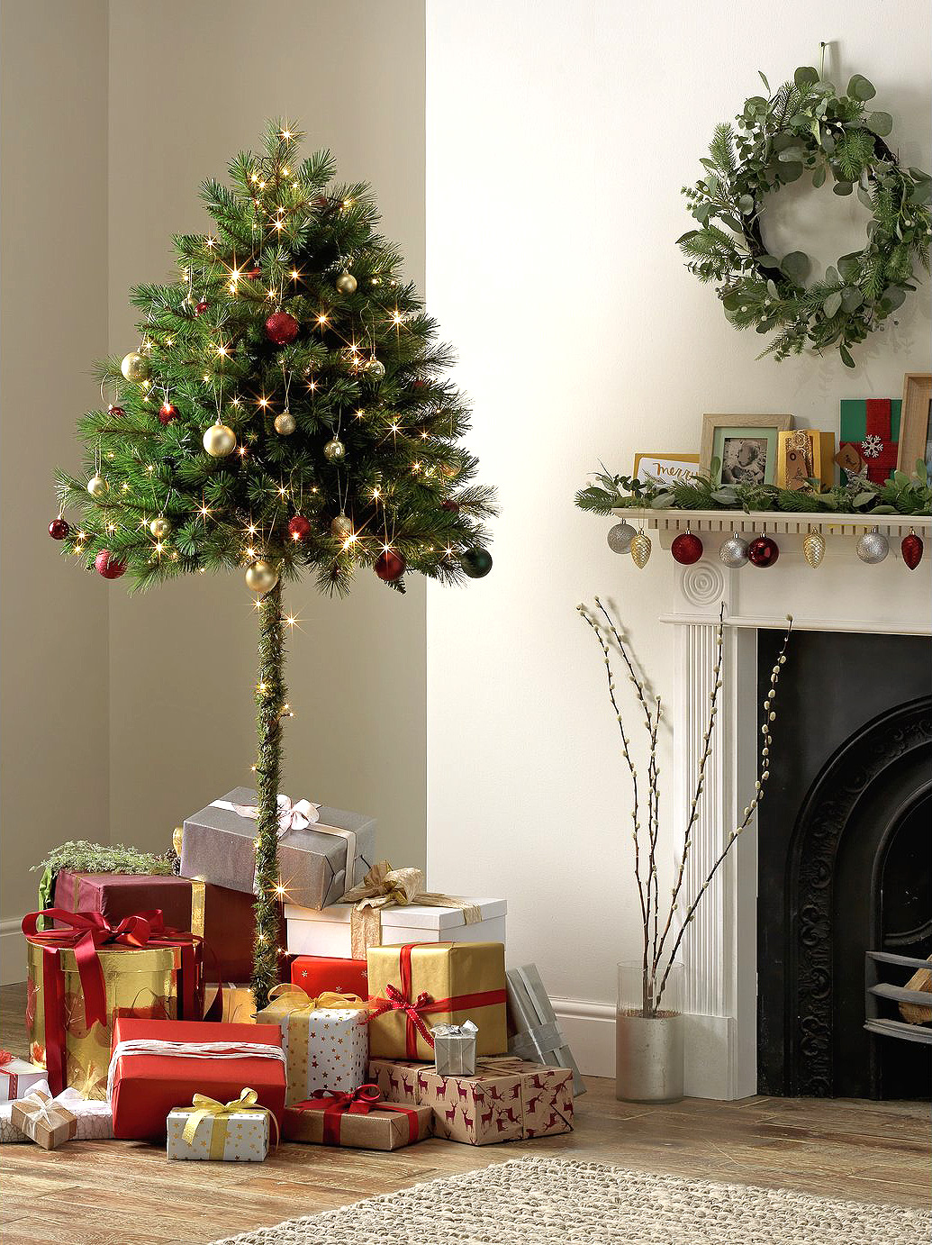 Curious Cat Destroying Your Christmas Tree? Meet the 'Half Tree' Solution for Sale Now