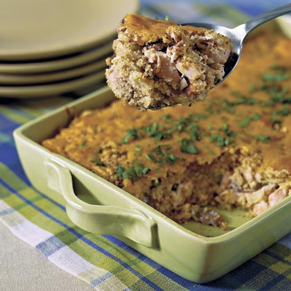 Chicken-and-Cornbread Casserole