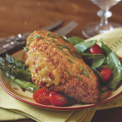 Pimiento Cheese-Stuffed Fried Chicken Southern Living