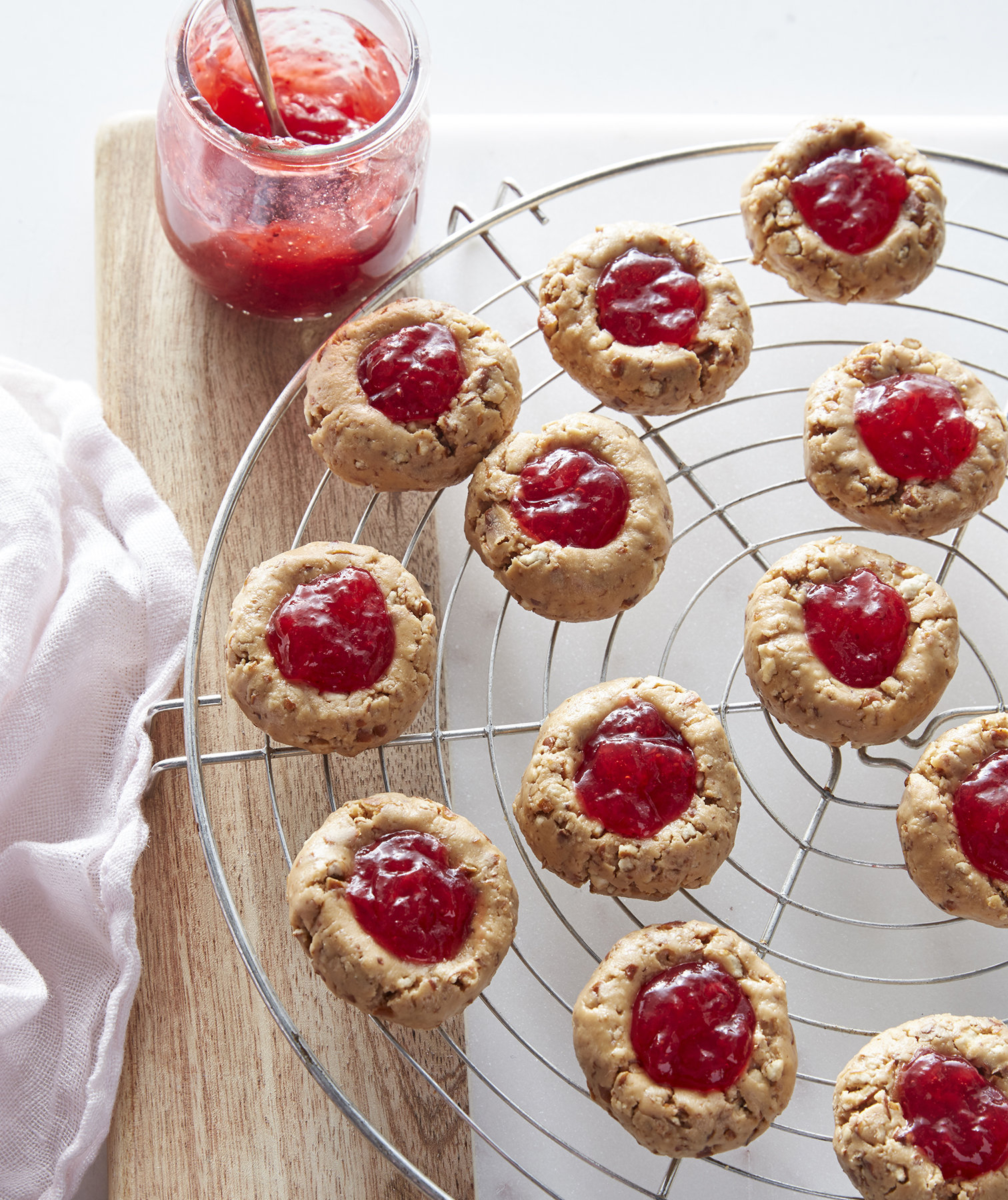 No-Bake Almond Butter Thumbprints Pam Lolley