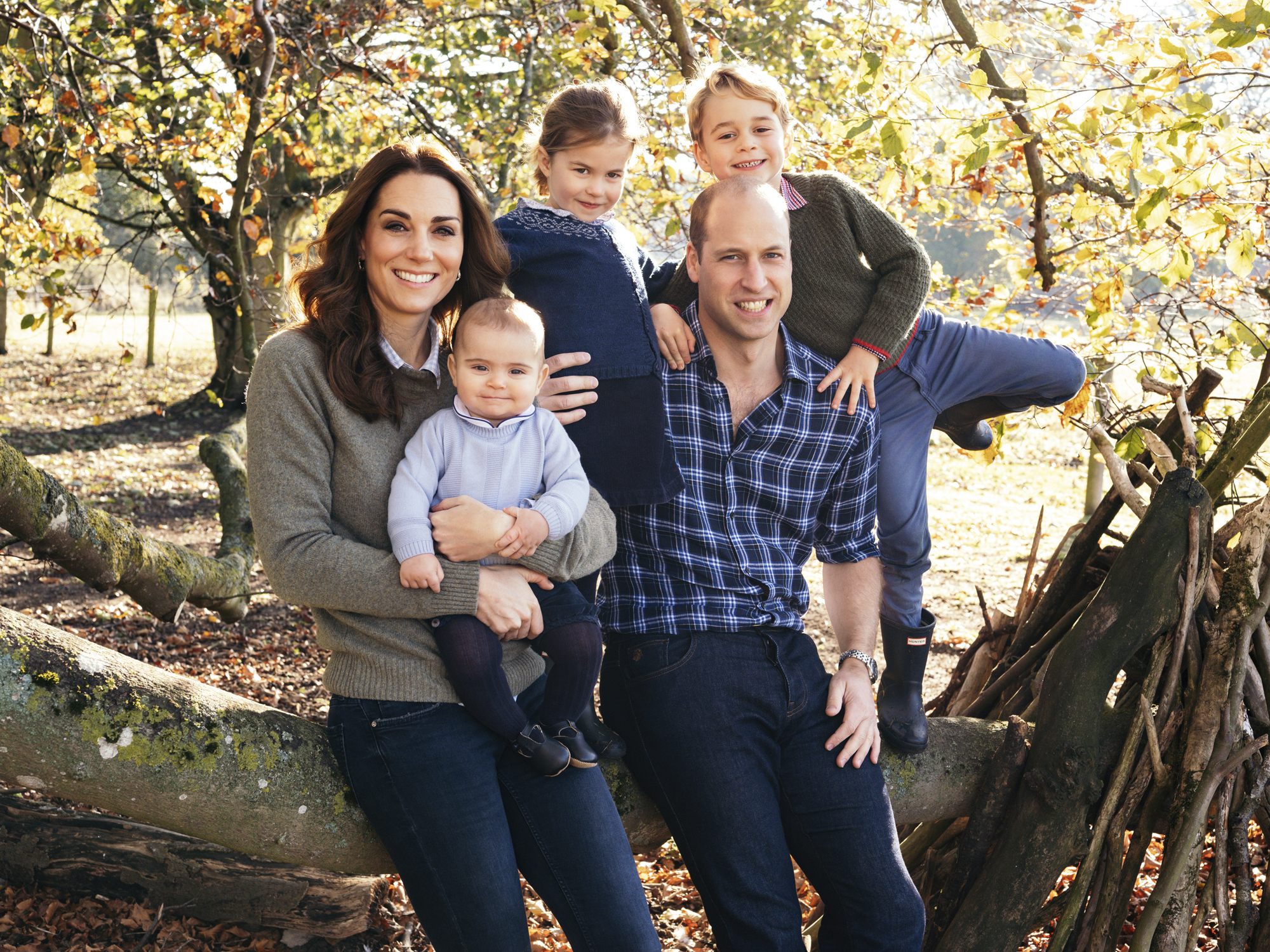 Will and Kate's Christmas Card Is Here —and It's the Most Casual Photo Yet of the Royal Children! duchess-cambridge-xmas-card-2000