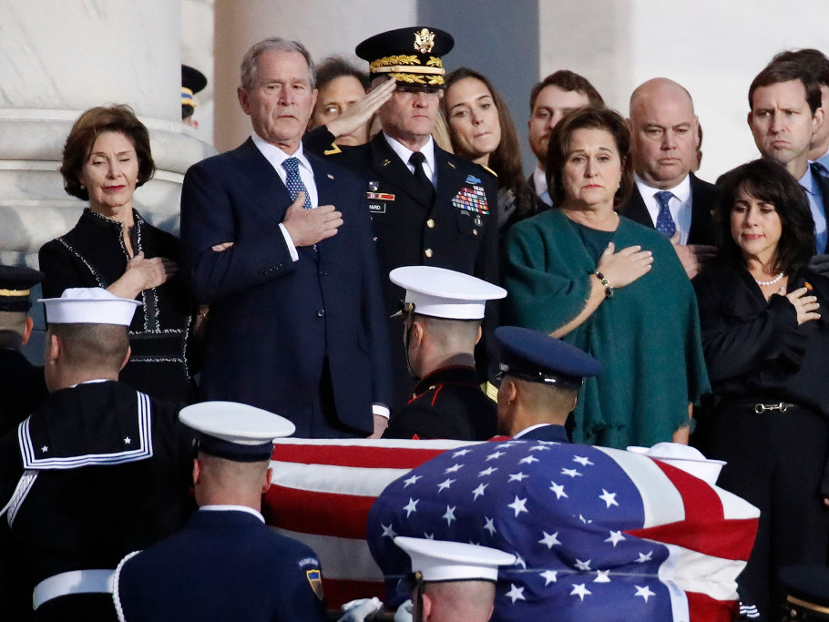 Prince Charles Will Travel to Washington, D.C. for George H.W. Bush's Funeral george-h-w-bush-funeral-25