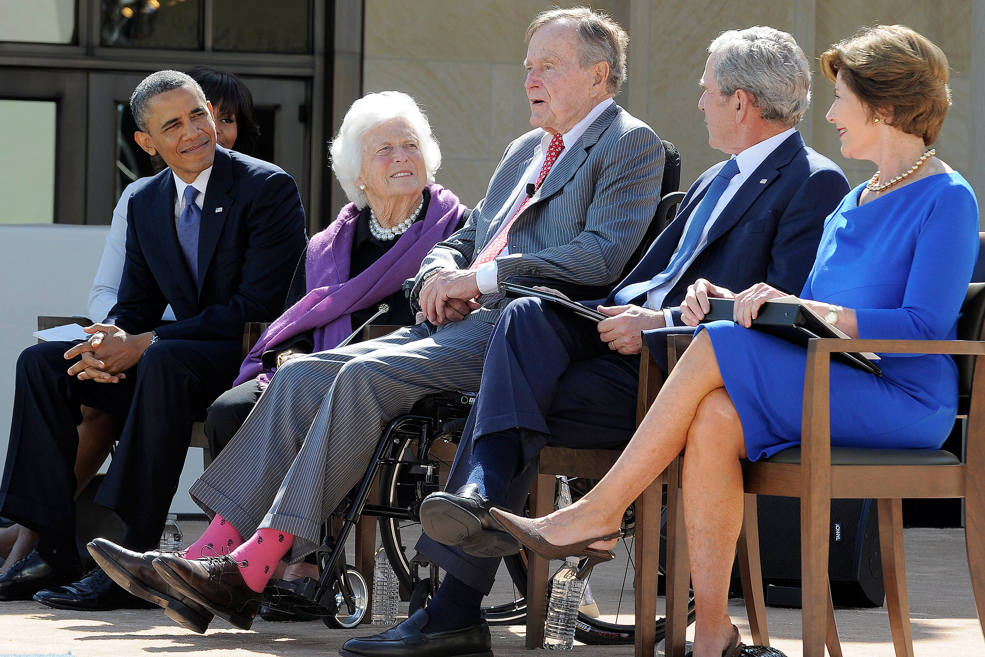 Americans Remember George H.W. Bush with Touching #SocksForBush Social Media Campaign obama-bush