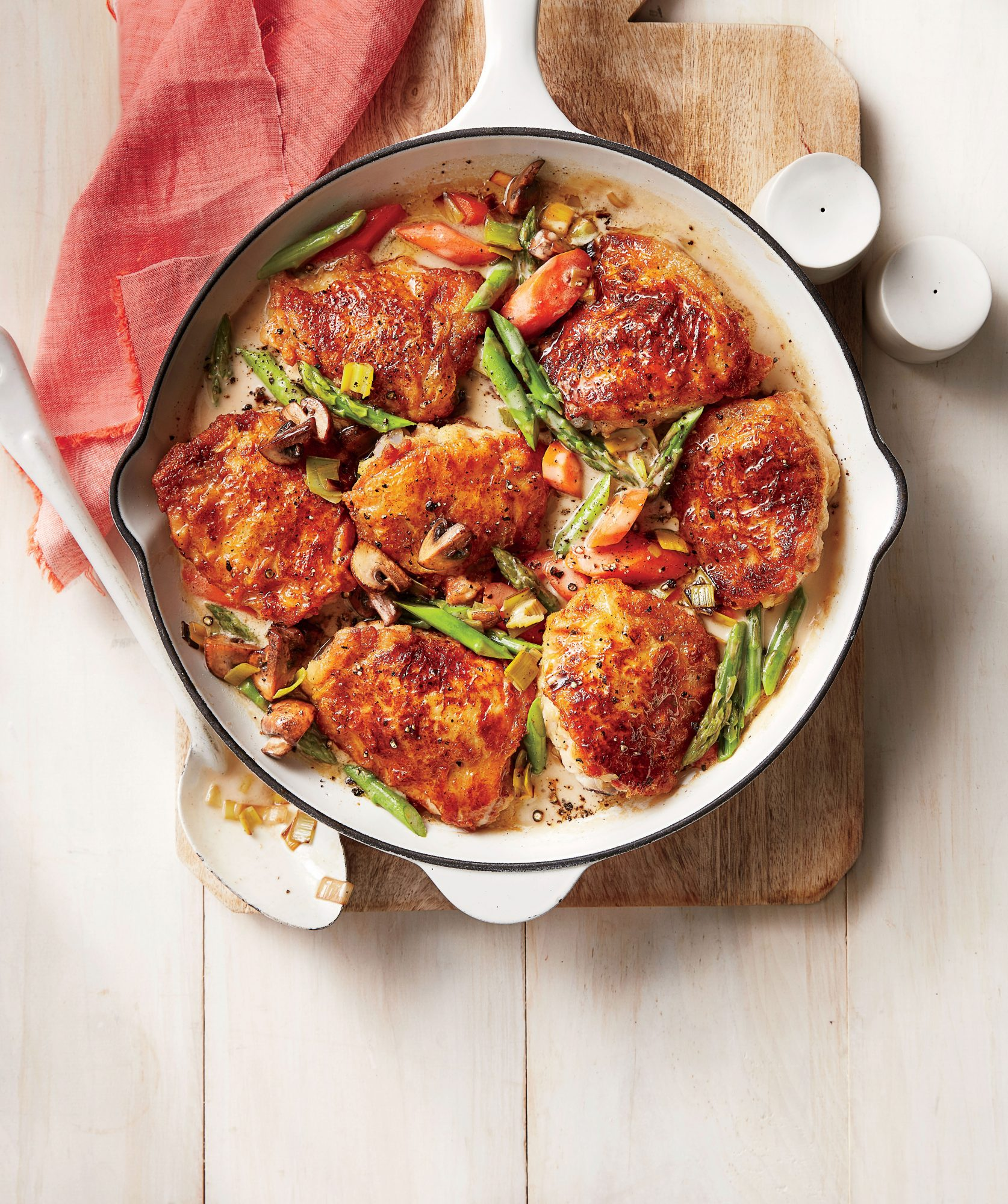 Chicken Fricassee with Spring Vegetables