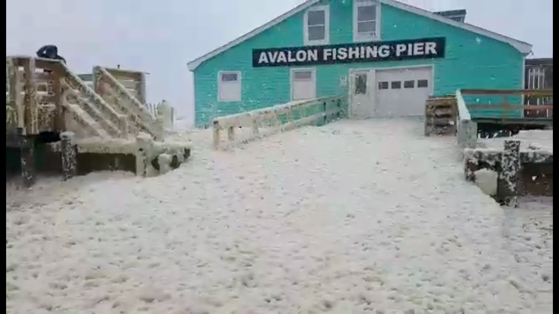 Avalon Pier Sea Foam