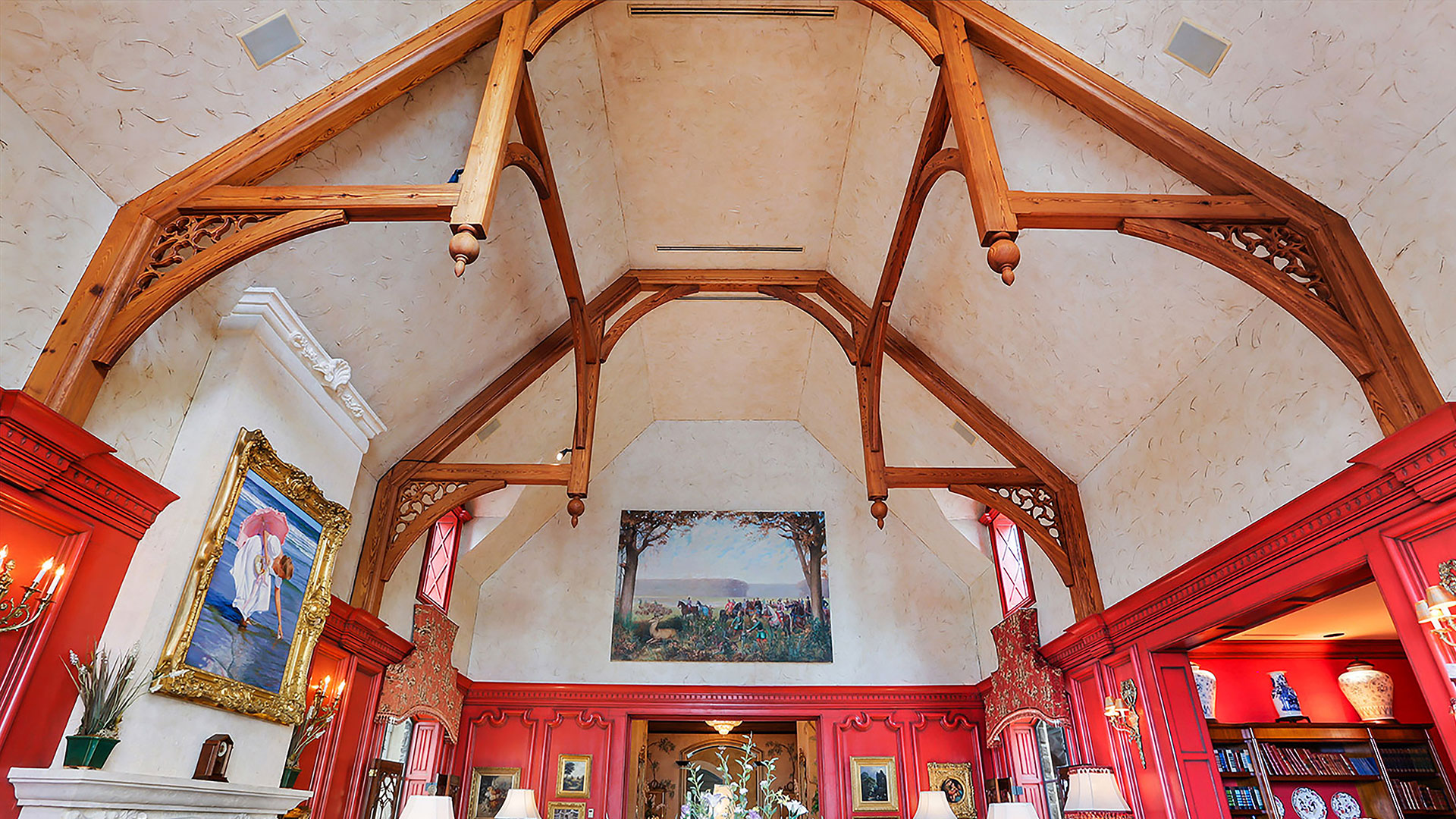 Colleton River Club French Chateau Cathedral Ceiling