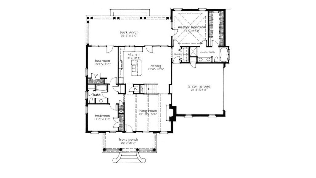 Dixie Cottage Floor Plan