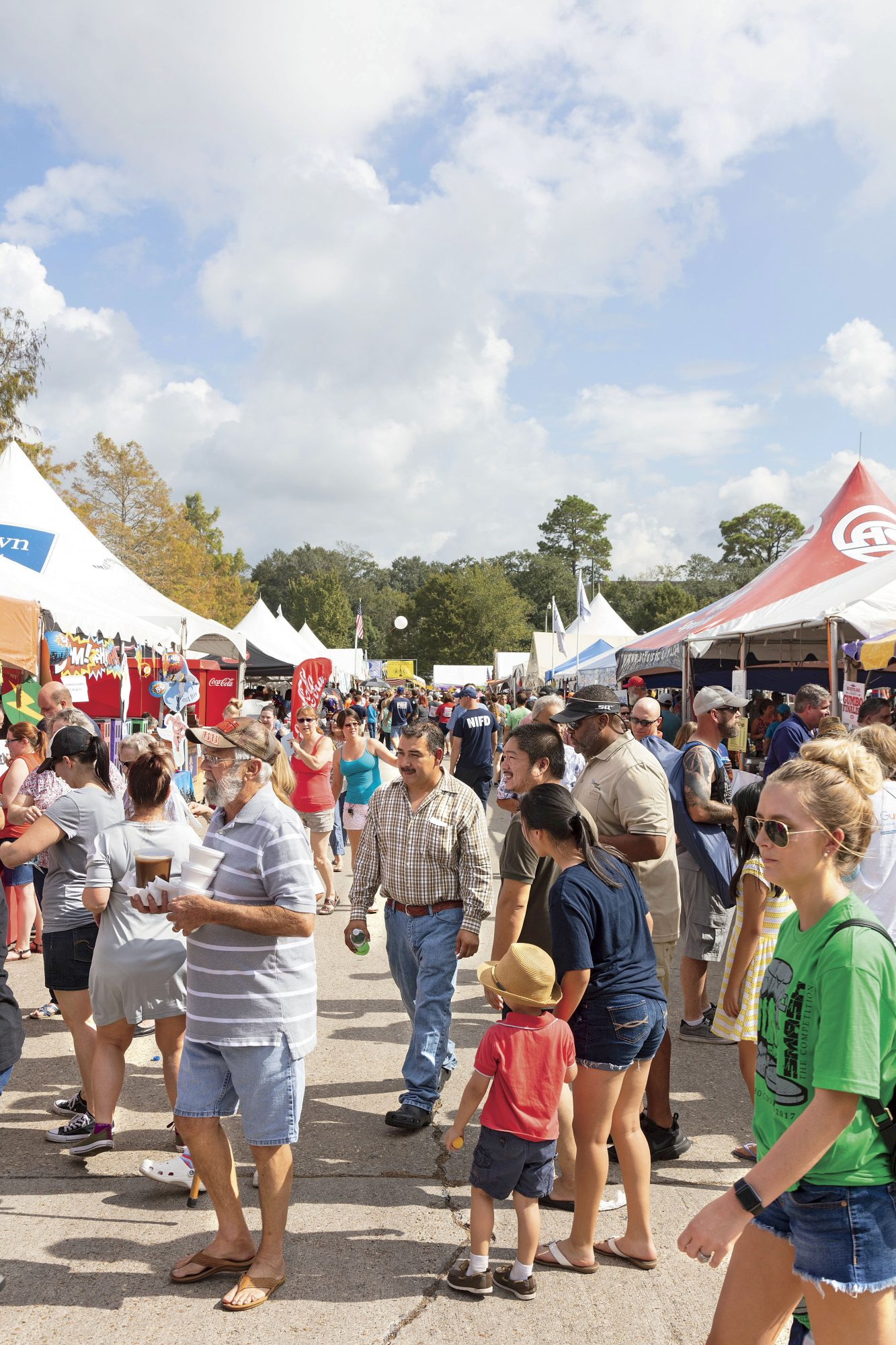 Crowd at the Gumbo Cookoff in New Iberia, LA
