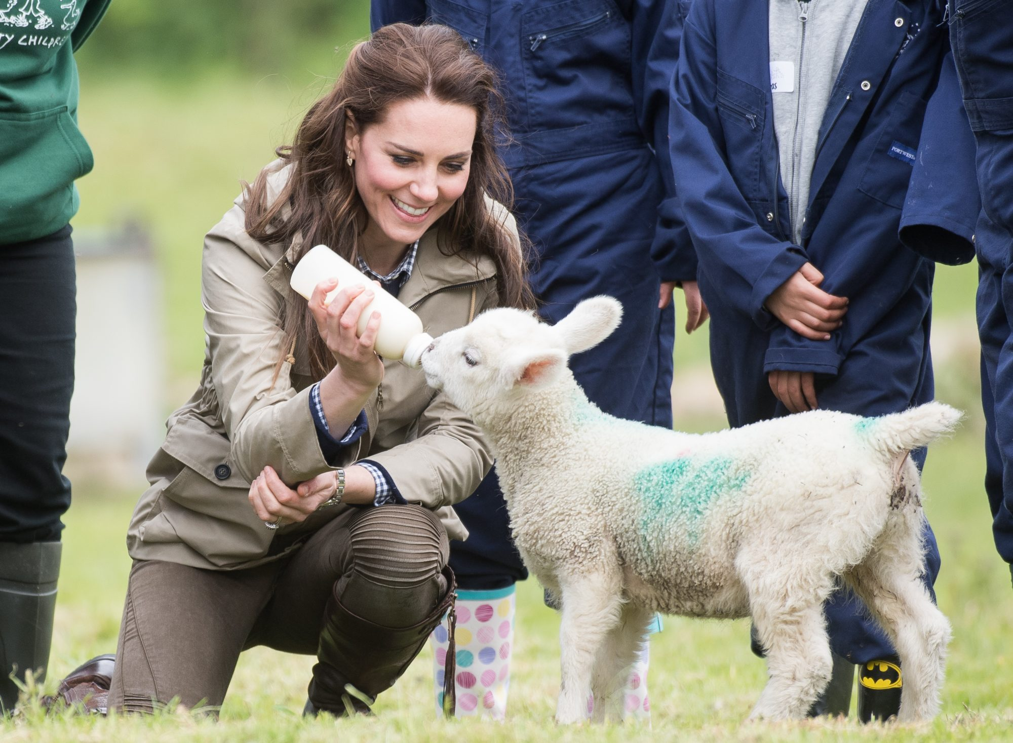 Kate Middleton Mom Moments Feeding Sheep