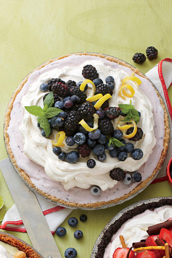 Summer Cakes and Pies Blueberry-Cheesecake Ice-Cream Pie