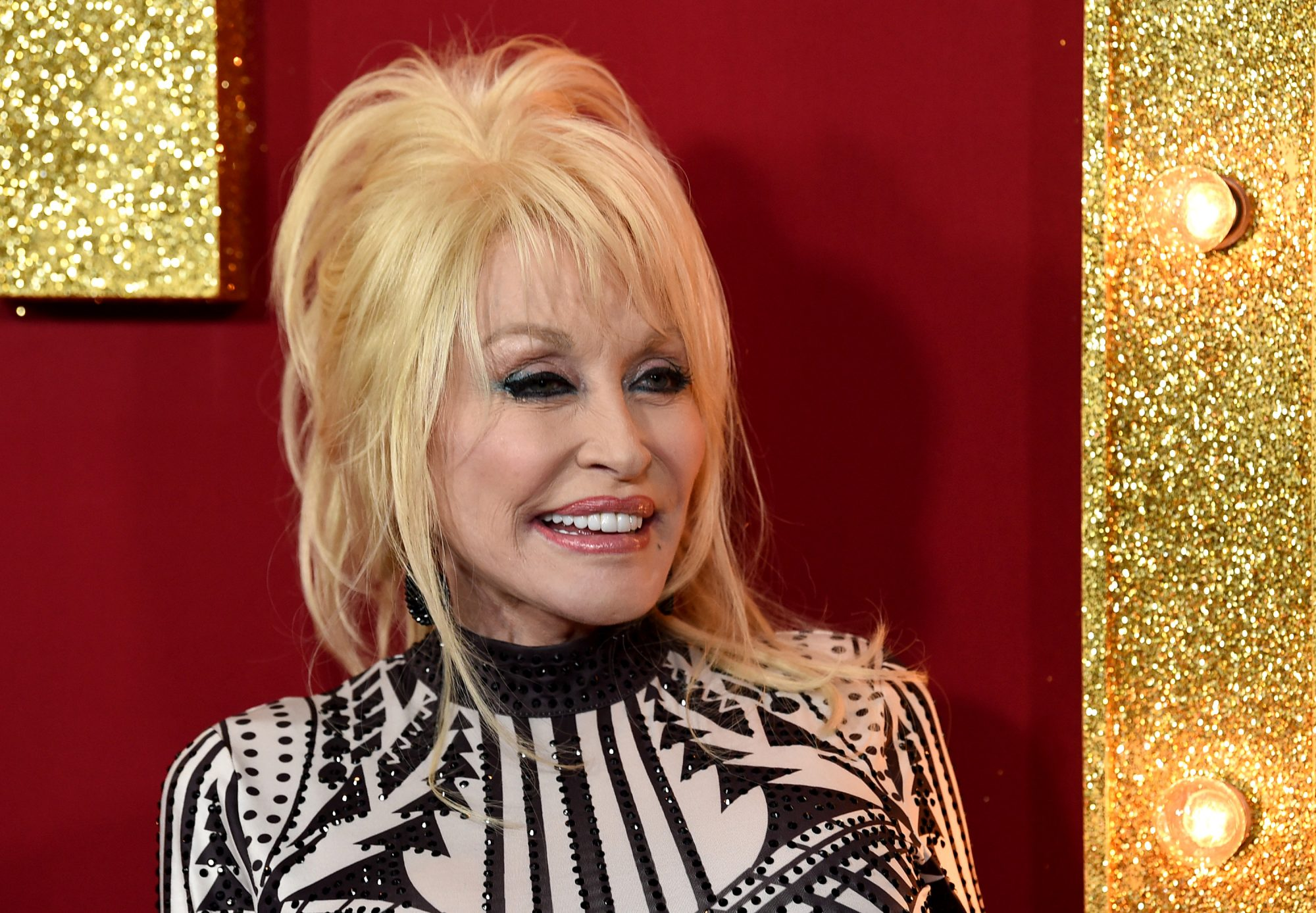 Dolly Parton at the Dumplin Premiere