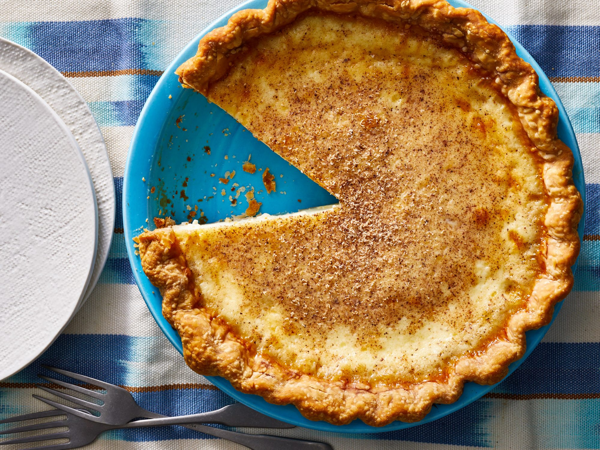April: Egg Custard Pie