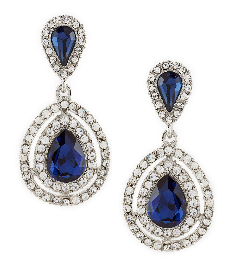 Pavé Teardrop Statement Earrings