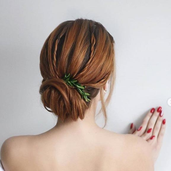 Simple Low Bun