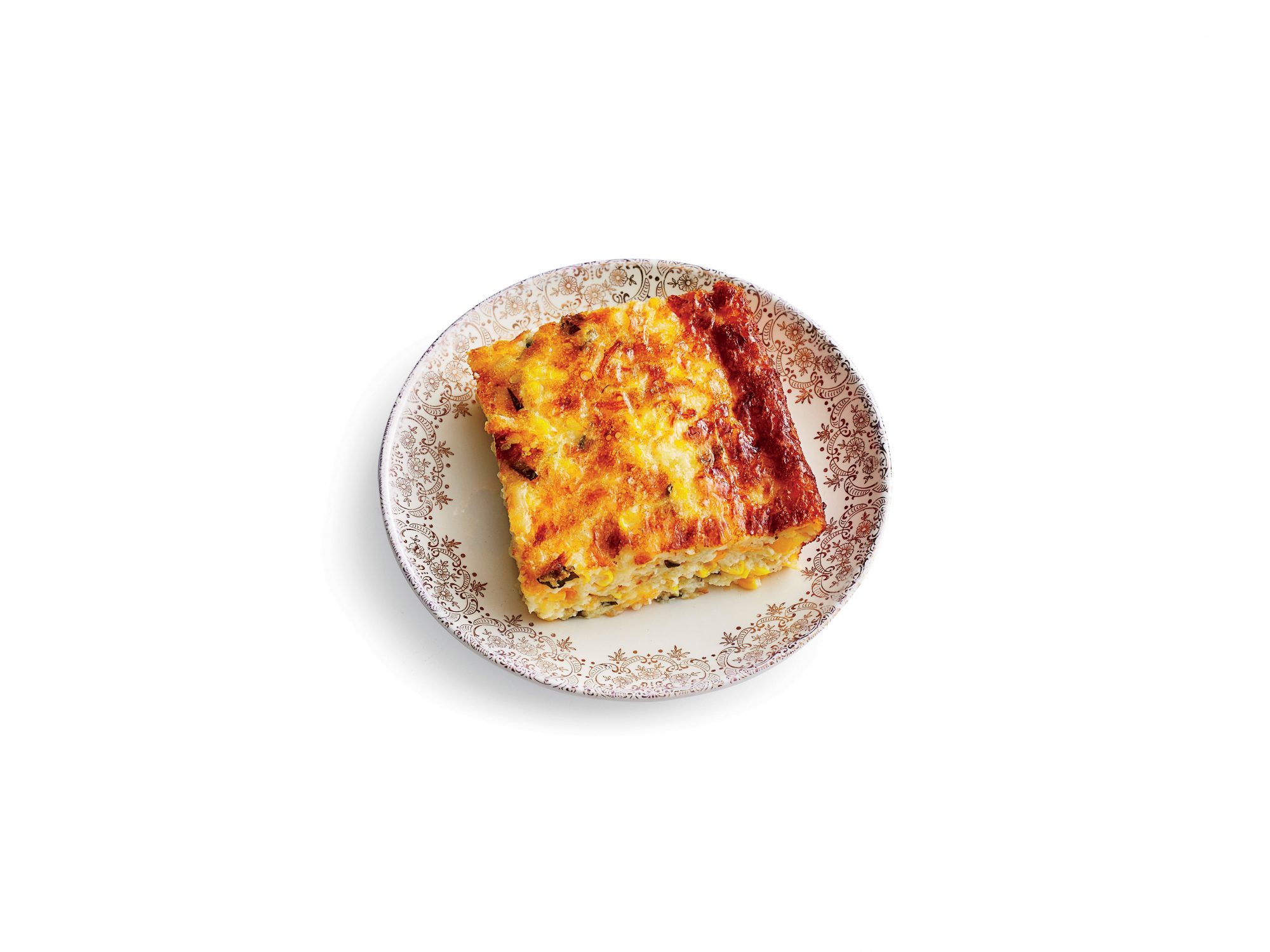 Three-Cheese Corn Pudding Recipe