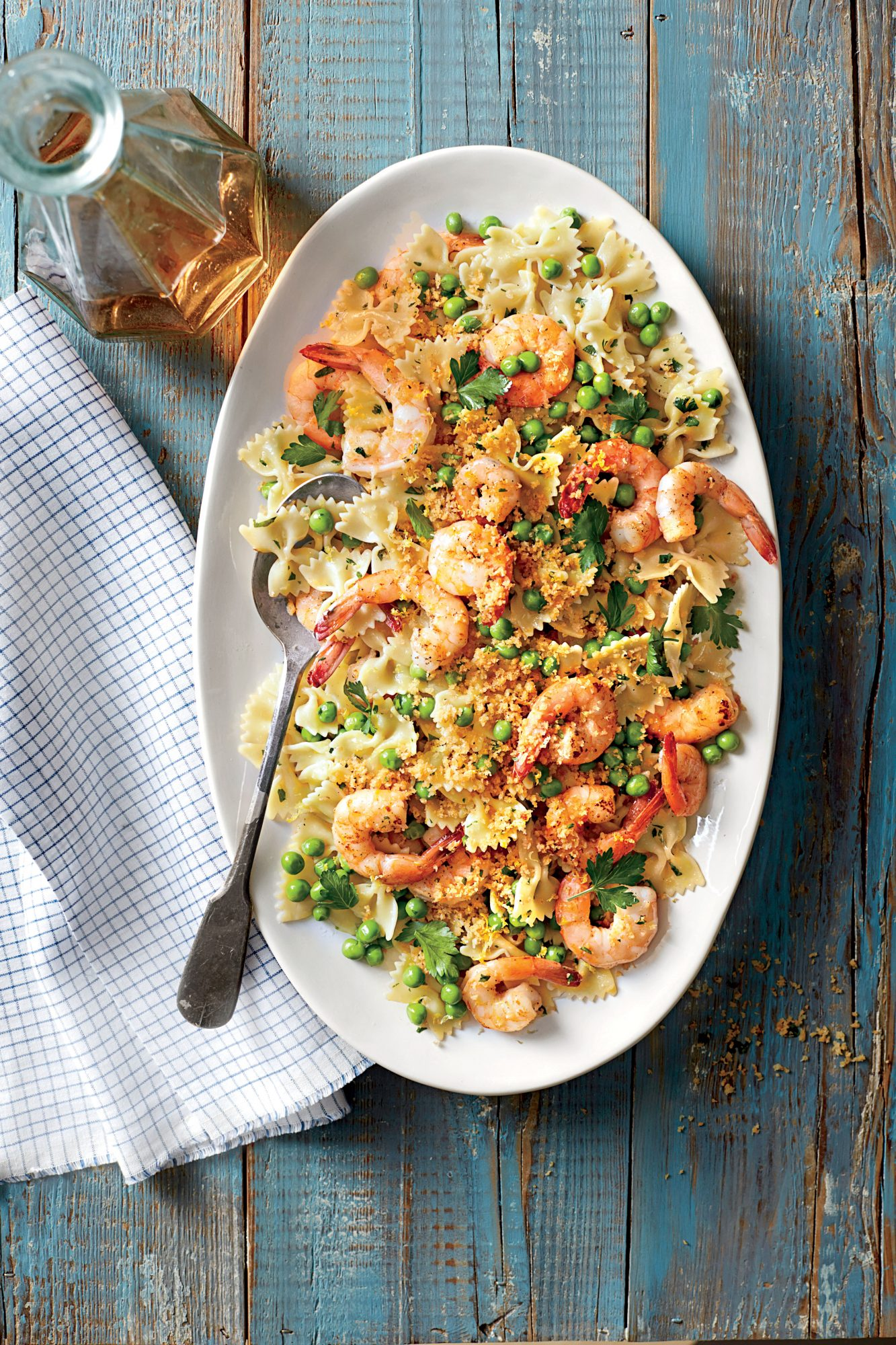 Shrimp and Peas with Farfalle