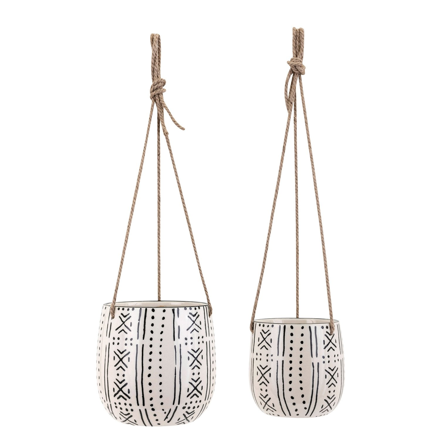 Paynes Gray Lazlo Hanging Planter Set of 2