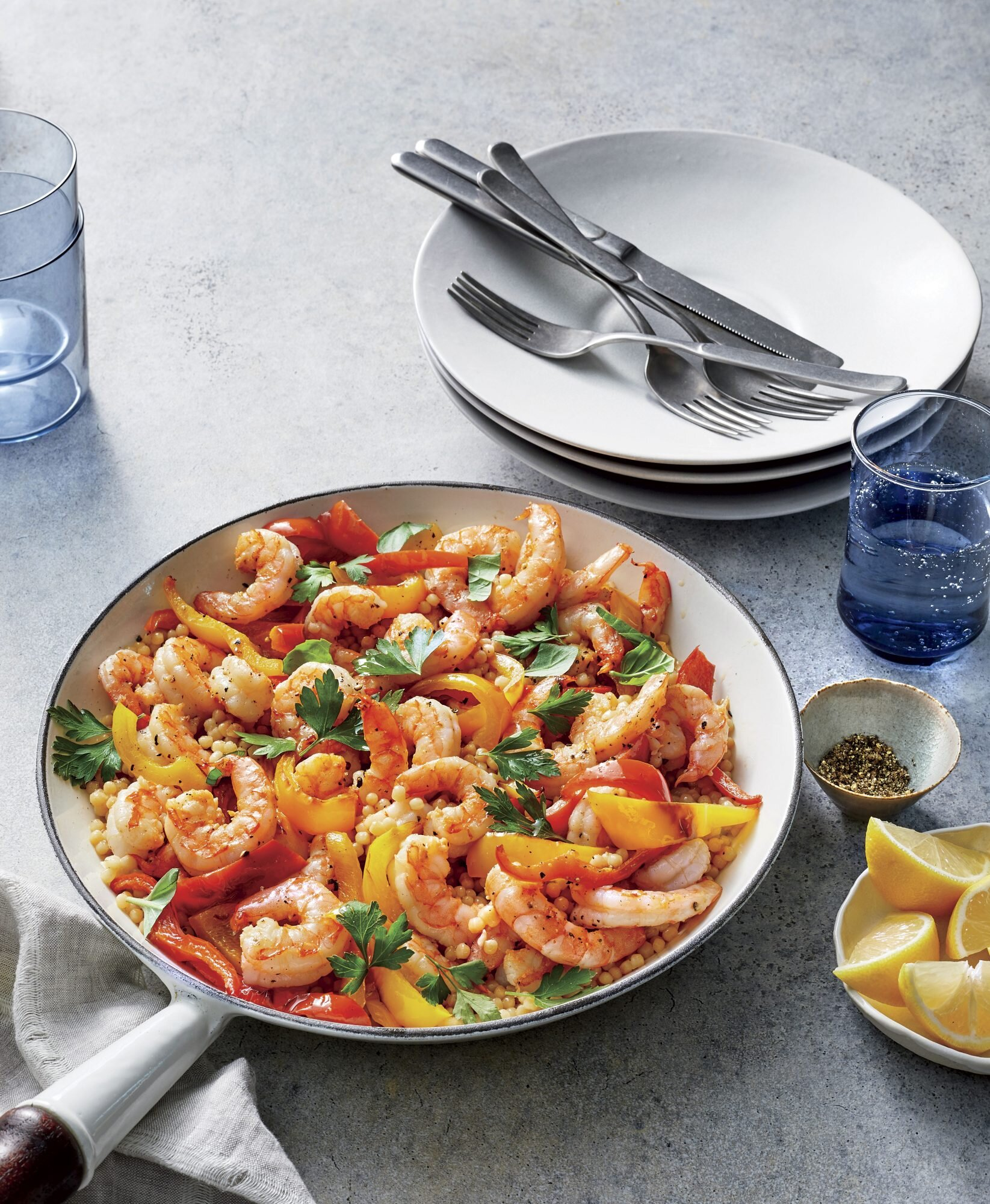 Israeli Couscous And Shrimp Recipe Southern Living