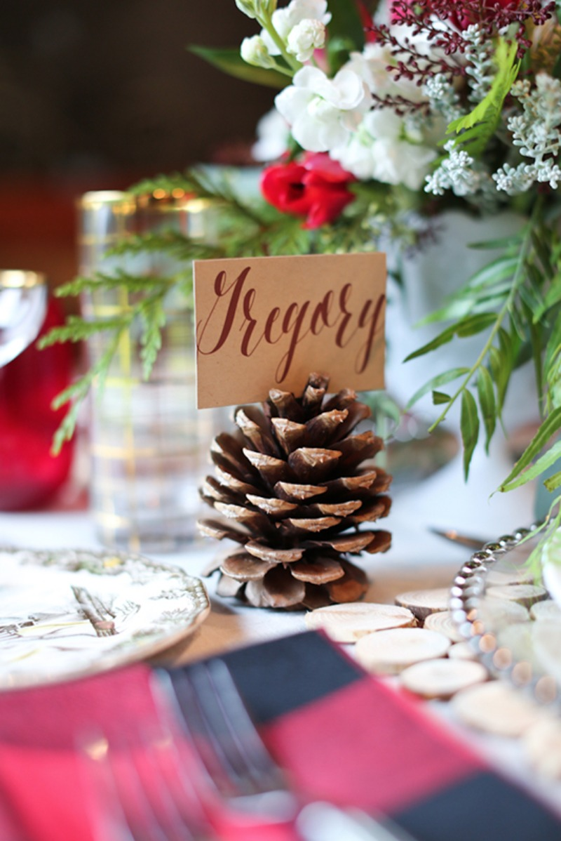 Acorn Wedding Place Card Holder