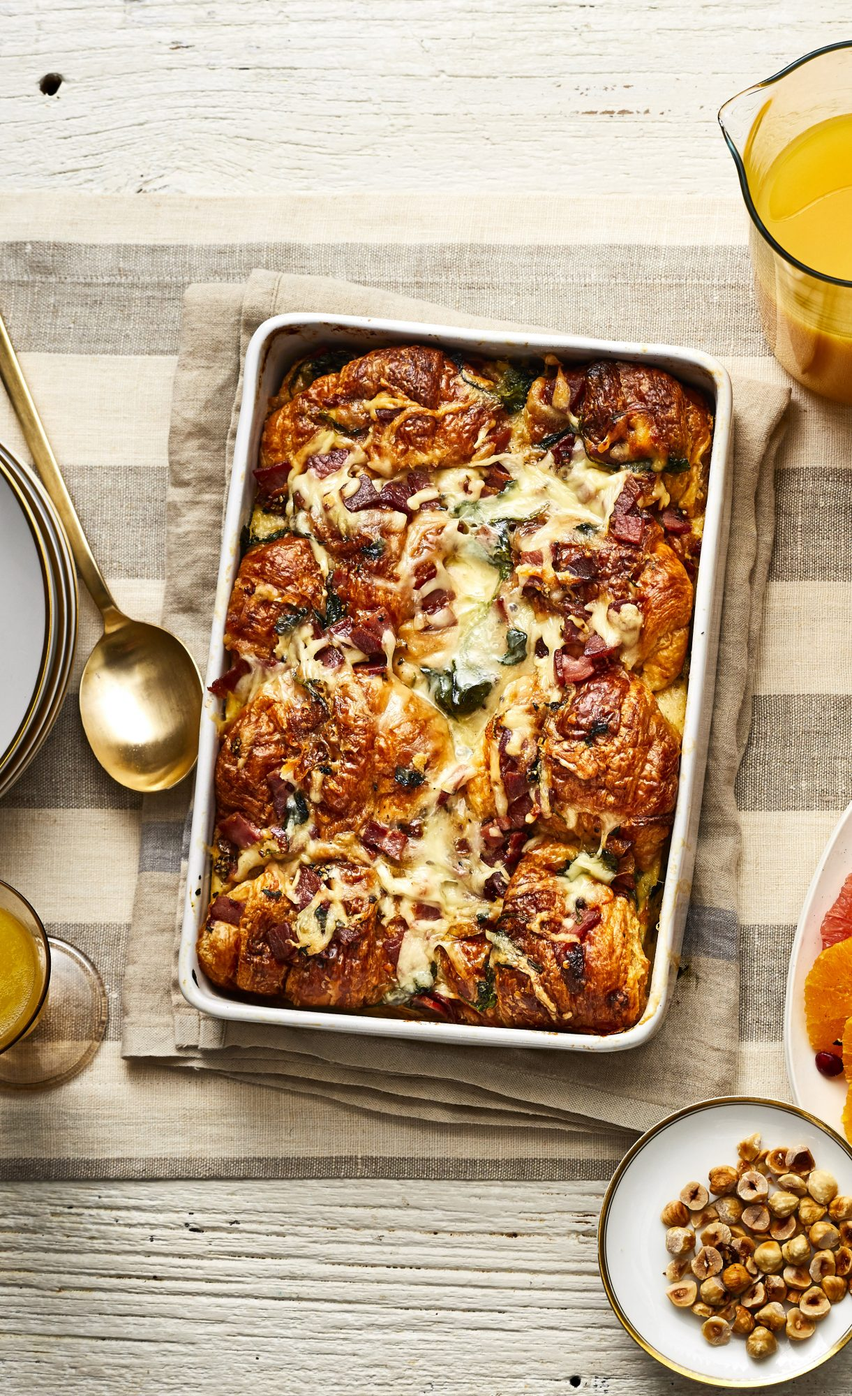 Make-Ahead Croissant Breakfast Casserole