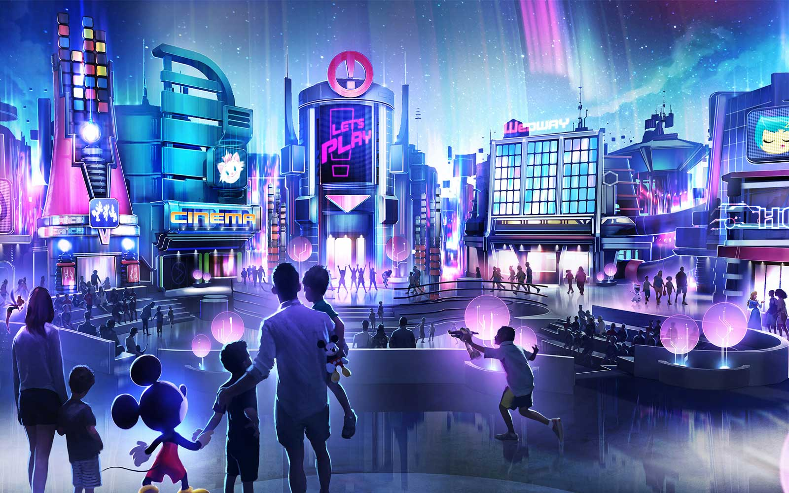 In this artist rendering, a new play pavilion in development at Epcot will include first-of-their-kind experiences devoted to playful fun