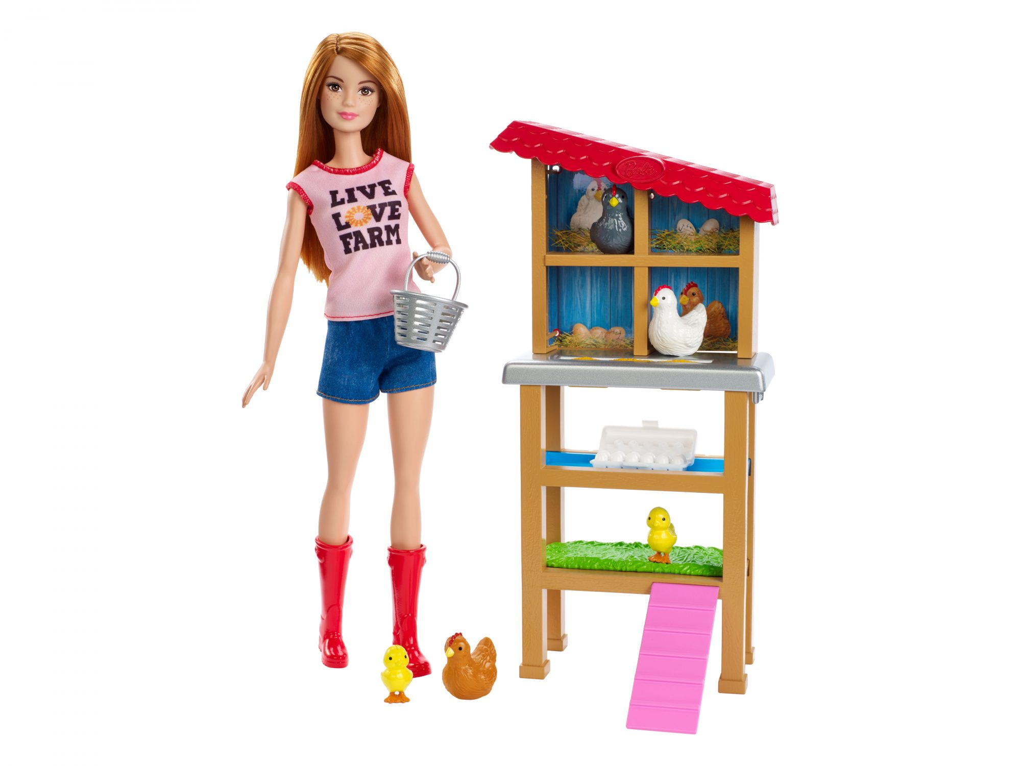 Barbie Careers Chicken Farmer Doll & Chicken Coop Playset