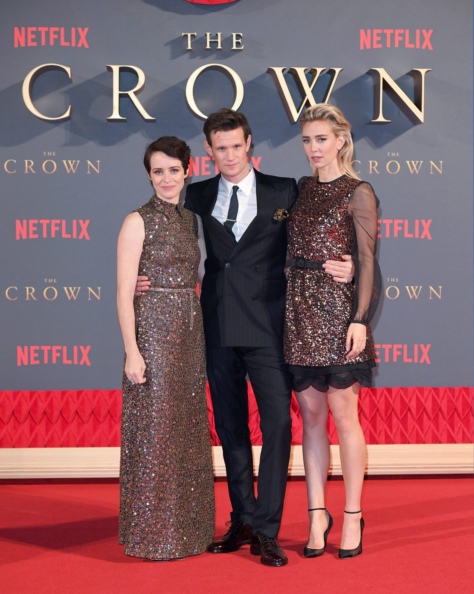 Claire Foy, Matt Smith and Vanessa Kirby