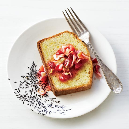Strawberry-and-Wild-Fennel Compote with Pound Cake