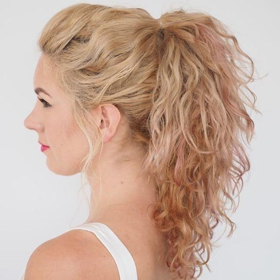 17 Beautiful Ways To Style Blonde Curly Hair Southern Living