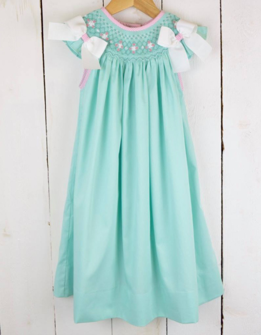 Spring Mint Bishop Dress