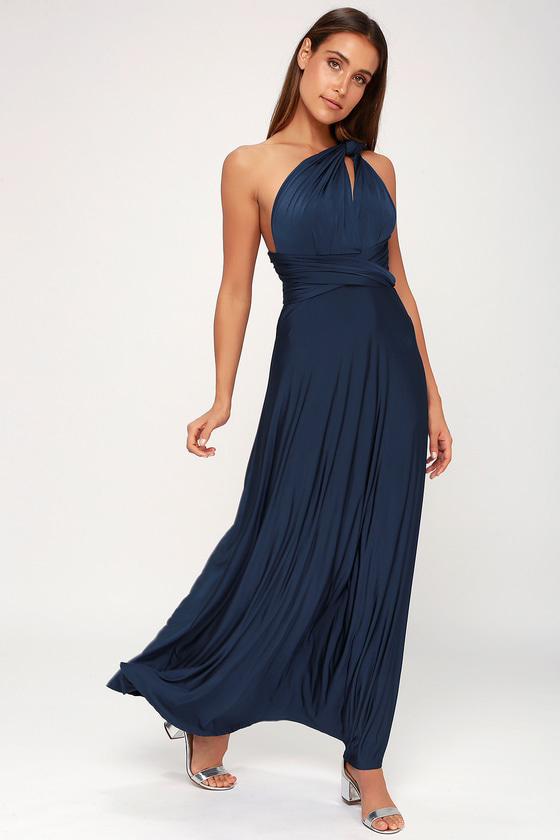 Convertible Navy Blue Dress