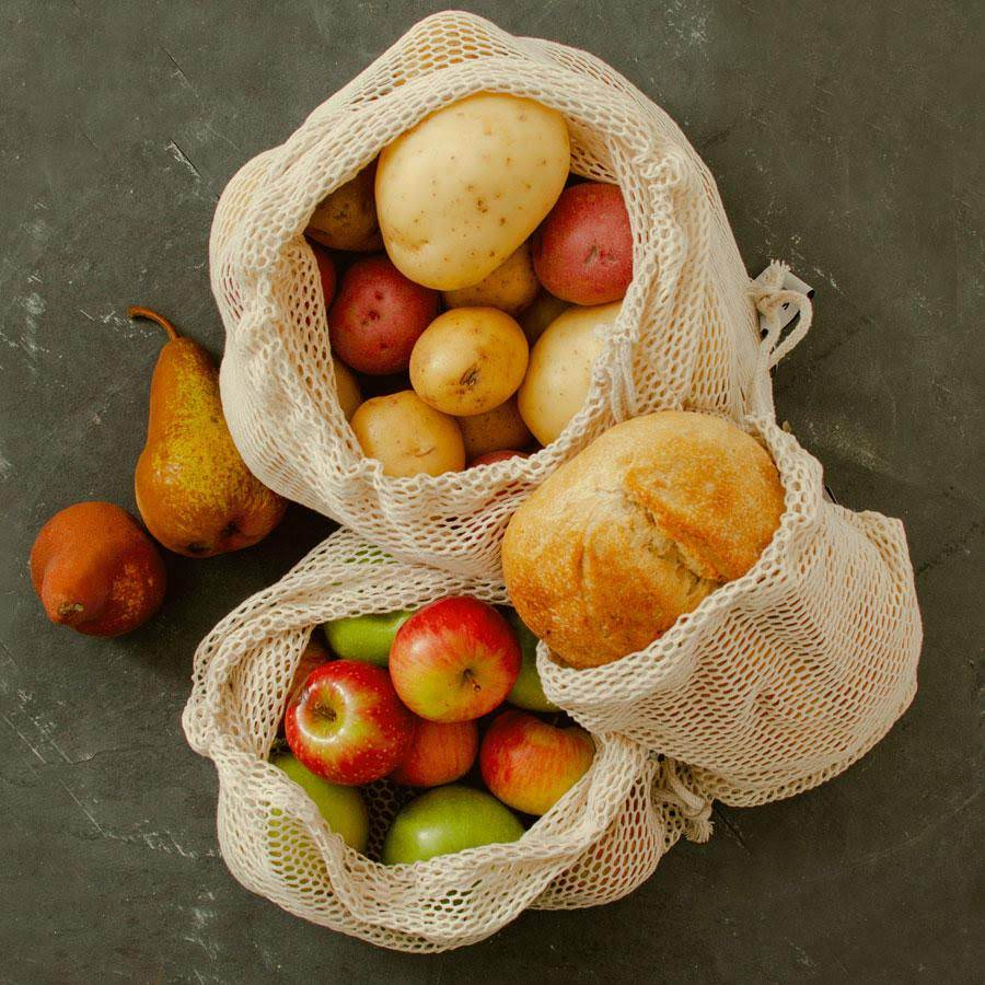 Wowe Lifestyle Reusable Certified Organic Cotton Mesh Produce Bags, $12.95