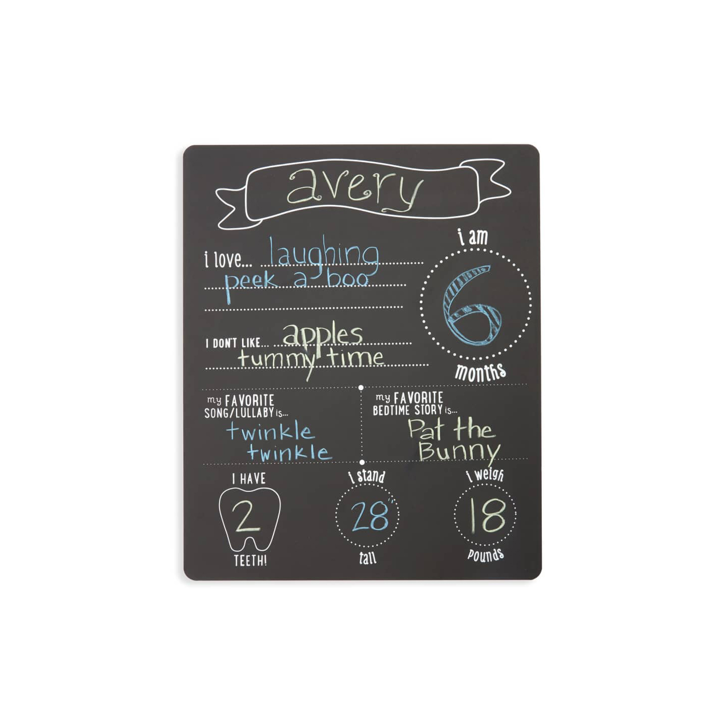 "Pearhead ""All About Baby"" Chalkboard"