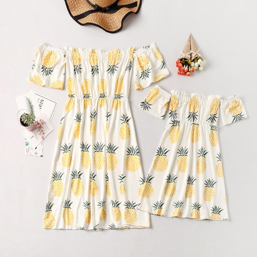 Pineapple Pattern Dresses