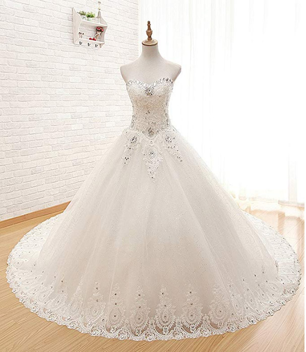 Sweetheart Princess Tulle Wedding Dress