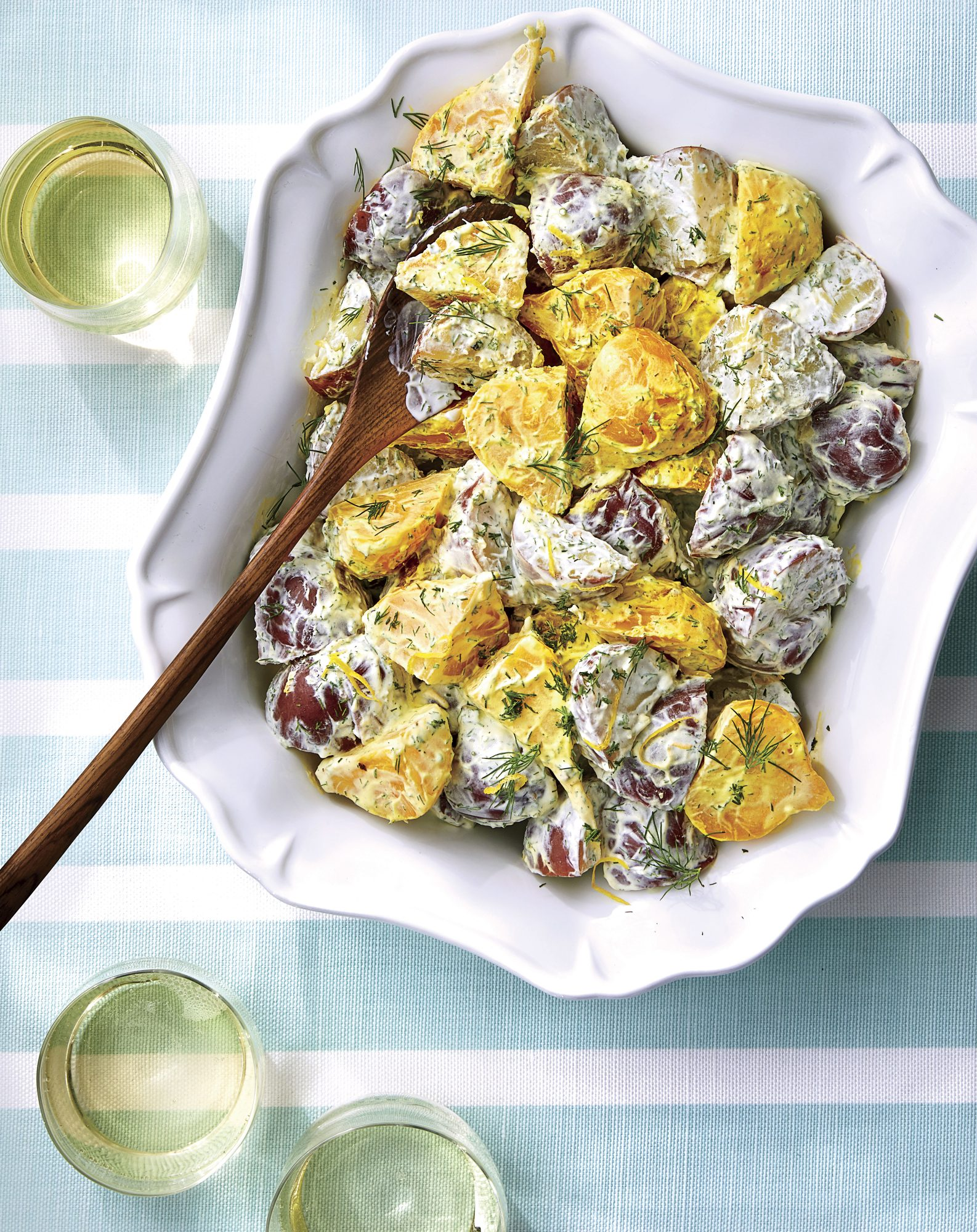 Lemon Dill Potato Beet Salad