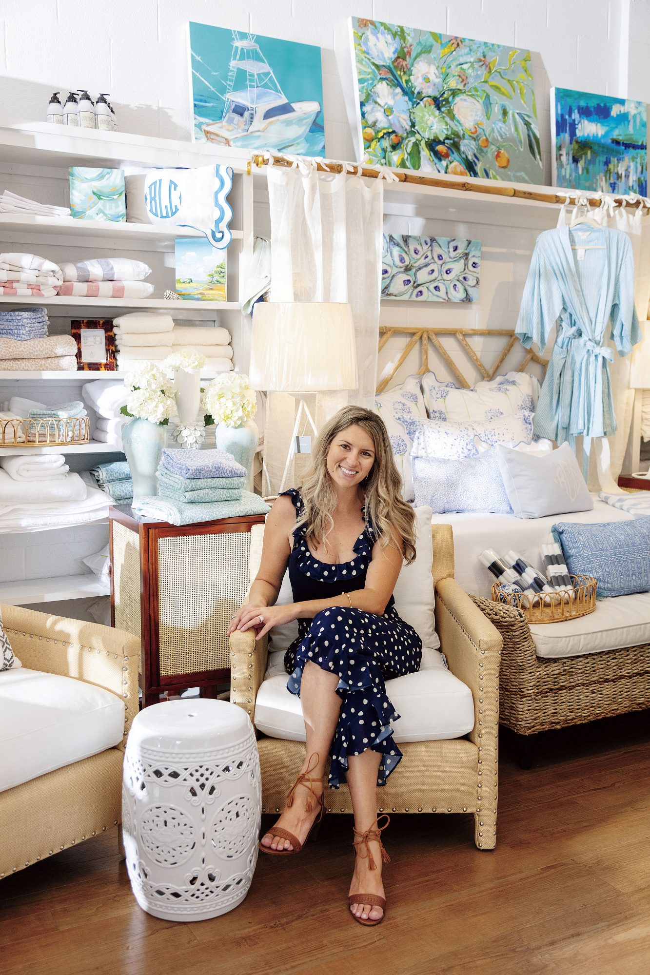 Christina Cuningham of the Beaufort  Linen Co. in North Carolina