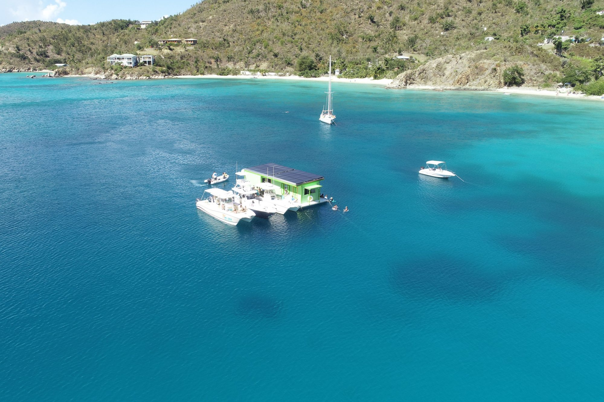 Lime Out Floating Taco Bar Caribbean Aerial