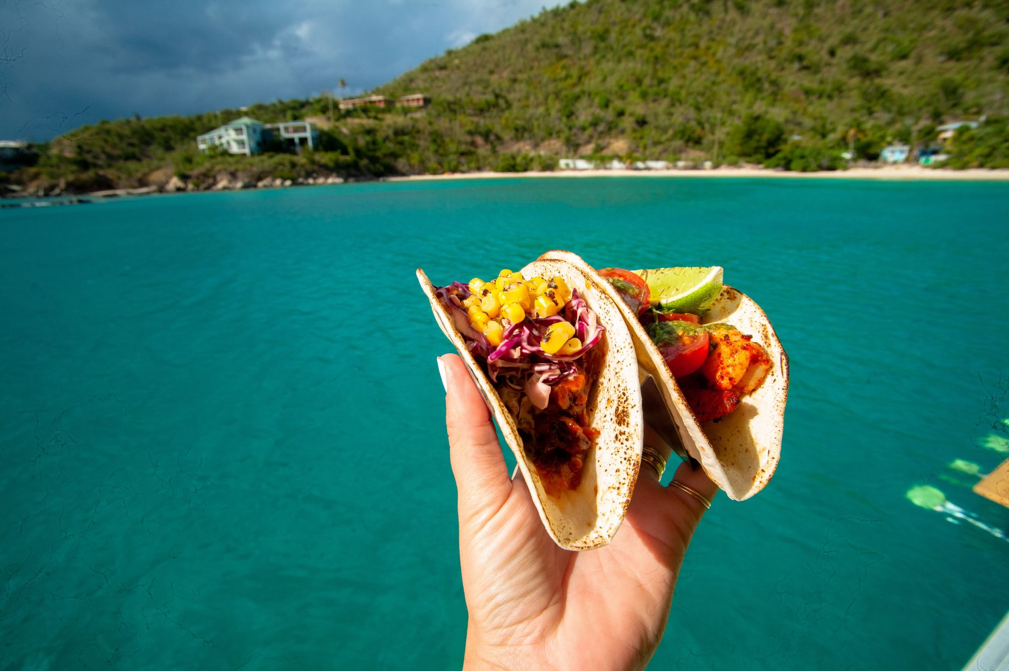 Lime Out Floating Taco Bar Caribbean Tacos