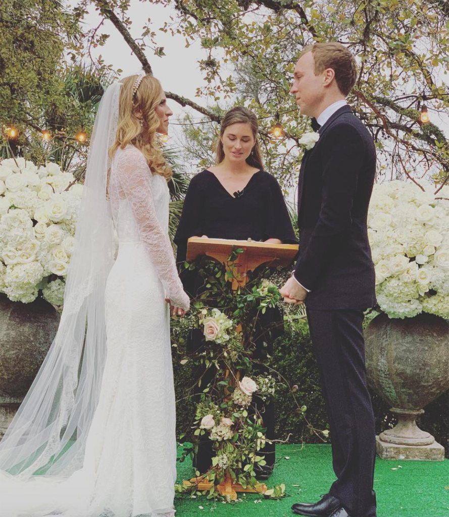 George H.W. Bush's Granddaughter Ashley Weds Julian LeFevre — and Big Sister Lauren Married Them! ashley-bush-wedding-2