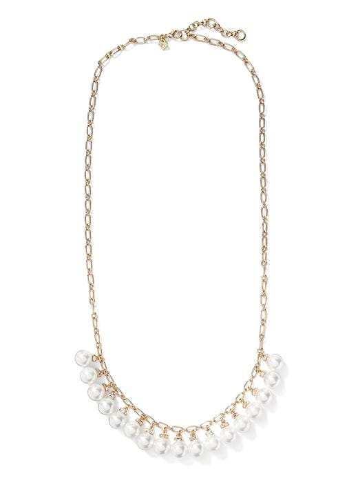 Modern Pearl Long Necklace