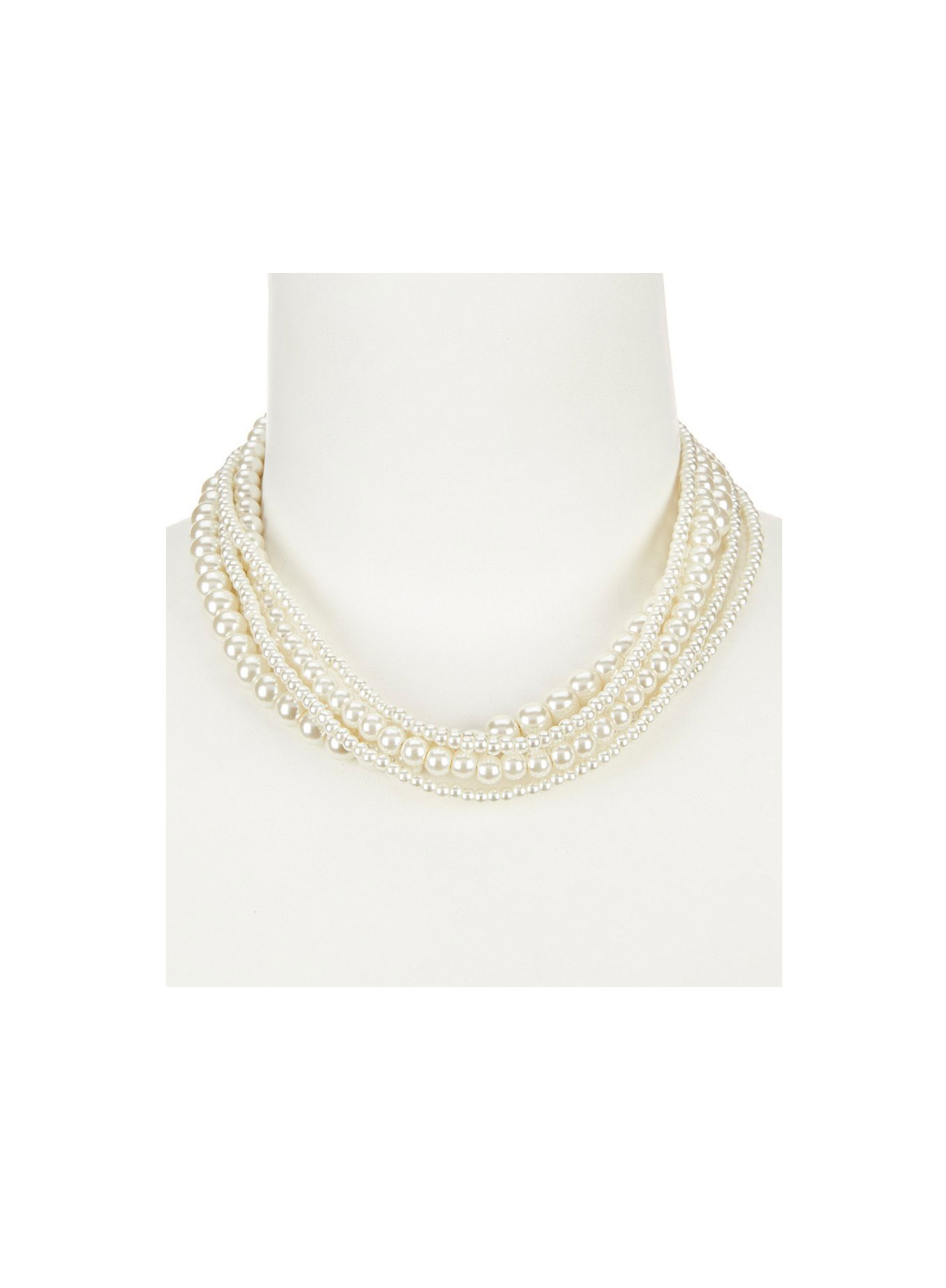 Cezanne Faux-Pearl Torsade Collar Necklace